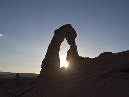 Delicate Arch sunset in southern Utah, USA  photo