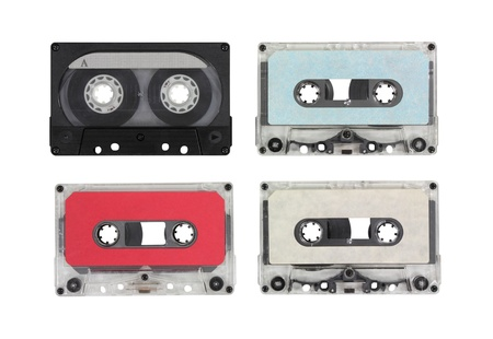 Vintage blank audio cassettes Stock Photo - 15478063