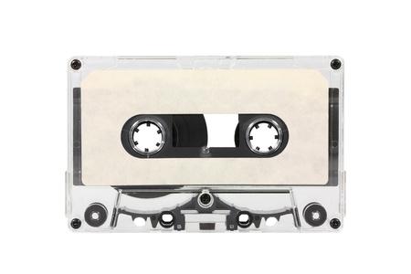 Vintage white audio cassette isolated Stock Photo - 15803697