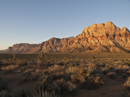 Dawn light on Mt. Wilson at Nevada's Red Rock national Conservation Area. Stock Photo - 15843428