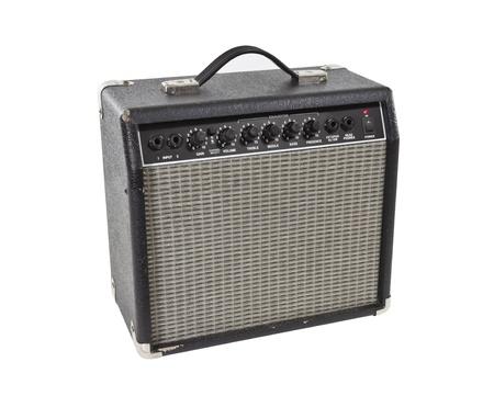 実際にビンテージ ギター ・ アンプ クリッピング パスと隔離されます。 写真素材