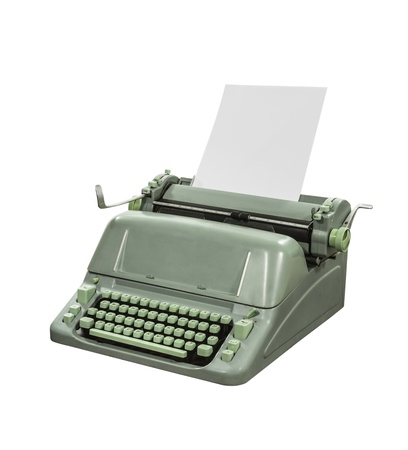 Retro typewriter isolated with clipping path  Stock Photo - 15887448