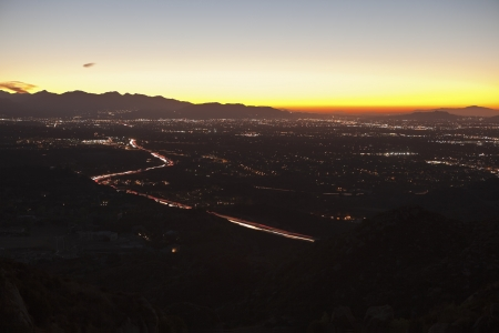 San Fernando Valley in the City of Los Angeles at sunrise  photo