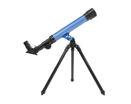 Blue telescope isolated Stock Photo - 16007872