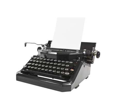 Old Black Typewriter with Paper Stock Photo - 16150878