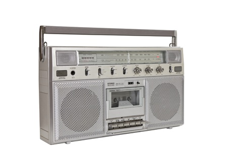 Vintage boom box portable stereo isolated Stock Photo - 16464305