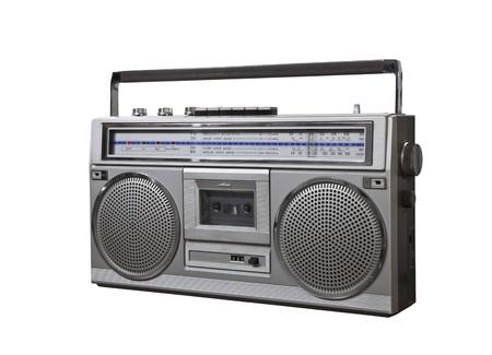 Vintage bom box portable stereo isolated Stock Photo - 16515375