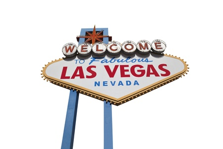 Las Vegas welcome sign isolated Stock Photo - 16515367
