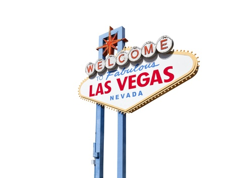 Welcome to Fabulous Las Vegas sign isolated Stock Photo - 16515378