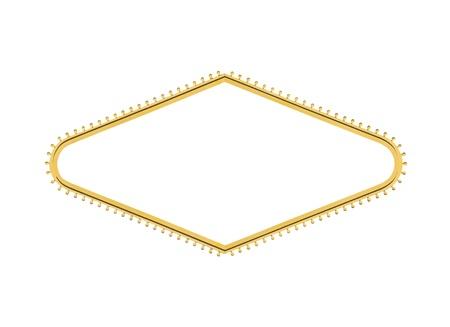 forme: Las Vegas welcome sign lumière ampoule diamant forme avec le centre de découpe. Banque d'images