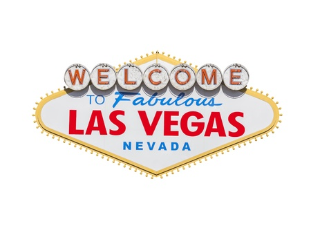 Las Vegas welcome sign diamond shape isolated  Stock Photo