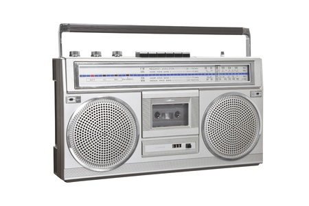 Vintage boom box blaster portable stereo Stock Photo - 16582183