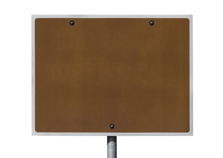 Blank brown road sign isolated Stock Photo - 16600839