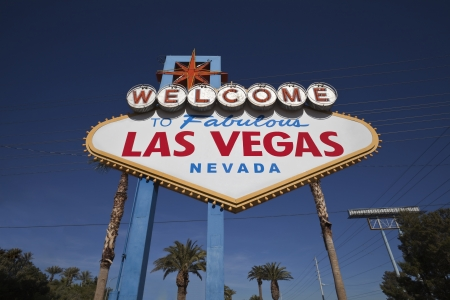 Las Vegas Welcome sign with Palm Trees Stock Photo - 16605294