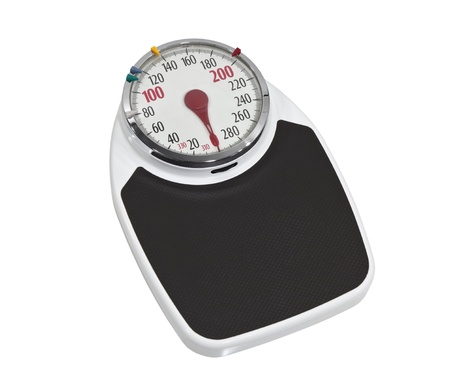 Large old bathroom scale  Stock Photo - 16647104