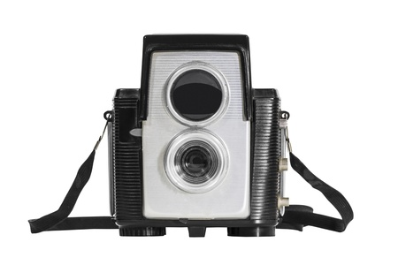 Vintage deco camera isolated Stock Photo - 16647123