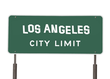 Los Angeles City Limit Sign with Handmade Font Stock Photo - 16647147