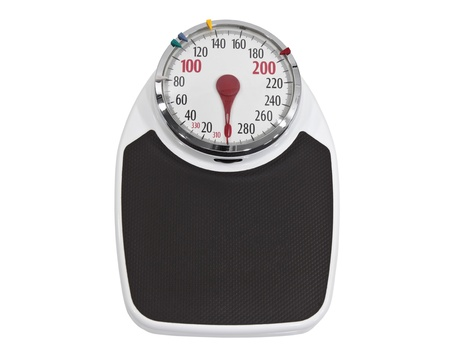 Old home weight scale isolated with clipping path Stock Photo - 16647132
