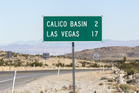 Las Vegas Nevada road sign with Las Vegas Valley in the background Stock Photo - 17107701