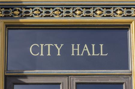 City Hall sign in San Francisco, California  Stock Photo - 17454589