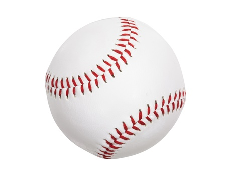 Clean new baseball isolated with clipping path.  Stock Photo - 17570370