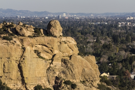 Stoney Point and Burbank in Los Angeles's San Fernando Valley. Stock Photo - 17570380