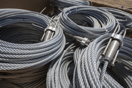 Steel cable rolls ready for use. Stock Photo - 17570379