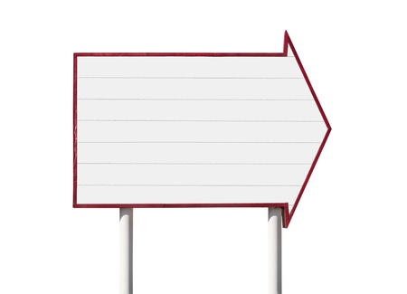 Giant blank arrow sign isolated with clipping path Stock Photo - 17844898