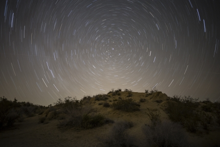 North star mojave desert night in California's Joshua Tree National Park Stock Photo - 17844900
