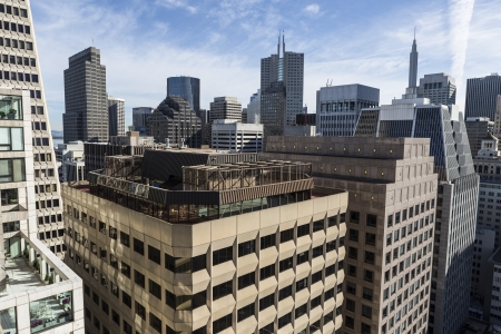 Editorial view of San Francisco's downtown financial district.   Stock Photo - 18018452