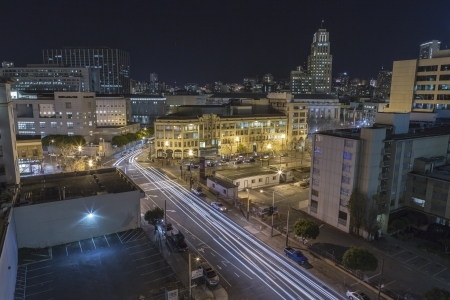 SAN FRANCISCO, CALIFORNIA - JAN 15: View of 8th and Market Streets in San Francisco Stock Photo - 18018787