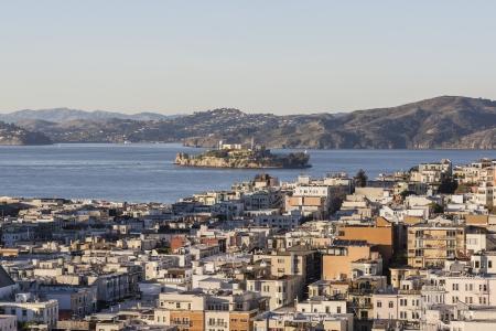 San Francisco Marina District and Alcatraz Island National Park Stock Photo - 17964810