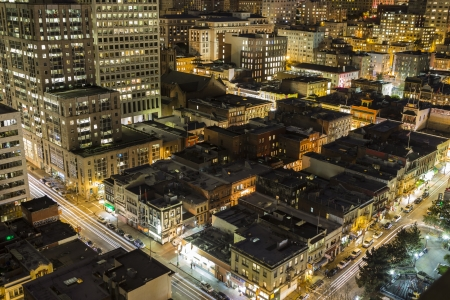 SAN FRANCISCO, CALIFORNIA - JAN 13: Night view of Chinatown tourist area.  San Francisco's 80% hotel occupancy has pushed average room rates above $155 per night on January 13, 2013 in San Francisco, Ca. Stock Photo - 18036980