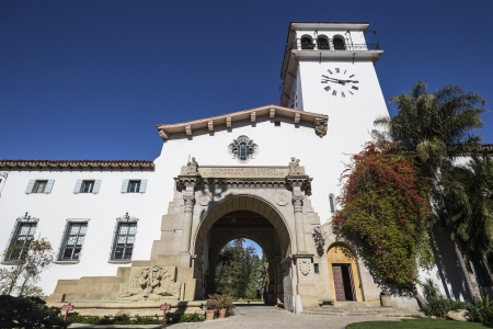 Historic Santa Barbara county courthouse in sunny southern California. Stock Photo - 18036975
