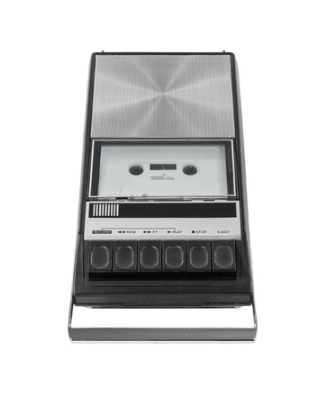 Vintage cassette tape player recorder isolated with clipping path  Stock Photo - 18564952