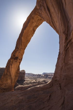 rock arch: Corona Natural Arch near Moab in Southern Utah  Stock Photo