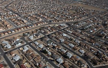 Albuquerque Homes Aerial Stock Photo - 18633463