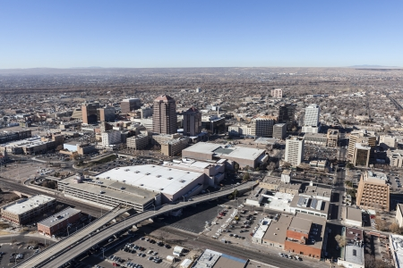 Albuquerque New Mexico downtown aerial view  Stock Photo