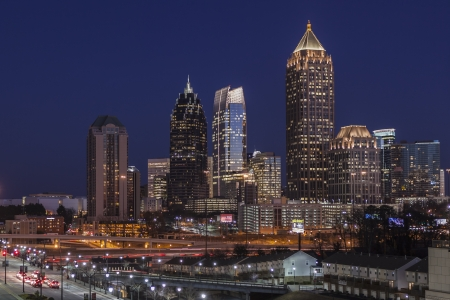 Editorial photo of Midtown Atlanta Georgia skyline at dusk. Stock Photo - 18646123