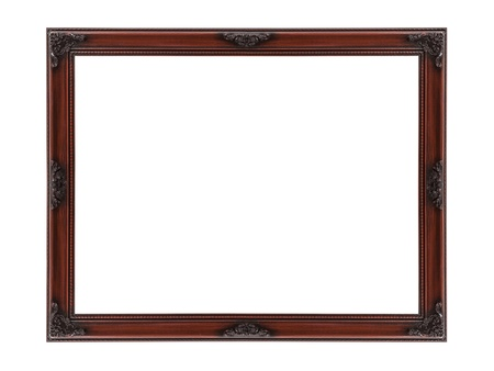 Wood picture frame cut out with clipping path Stock Photo - 18709143
