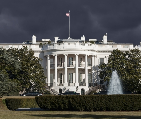 White House with storm sky in Washington DC. Stock Photo - 18704759