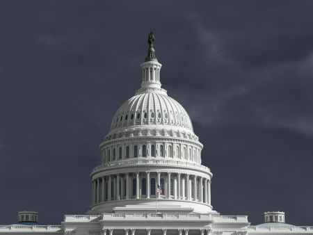 United States capitol with thunderstorm sky. Stock Photo - 18782277
