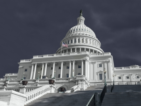 United States Capitol building with stormy weather. Stock Photo - 18782436