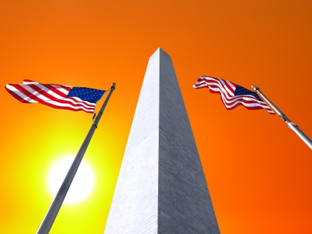 Sunrise sky and the Washington Monument in DC. Stock Photo - 19409181
