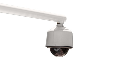 Outdoor security camera isolated with clipping path Stock Photo - 19409186