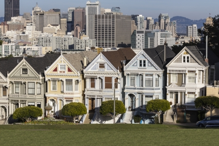 Famous Victorian Architecture at Alamo Square in San Francisco, California. Stock Photo - 19415830