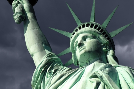 New York's Statue of Liberty isolated on white. Stock Photo - 19610406