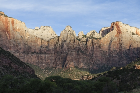 Early morning light on the cliffs at Zion National Park in Southern Utah. Stock Photo - 19610422
