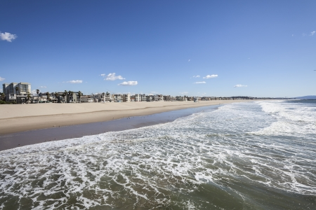 venice: View from the famous Venice Beach pier in sunny Los Angeles, California  Stock Photo