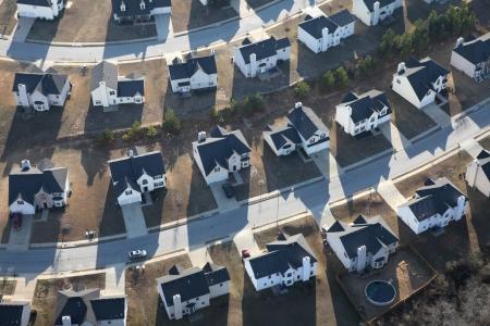 Antenne van typische moderne suburbane woningen track in het oosten van de Verenigde Staten Stockfoto - 19806492
